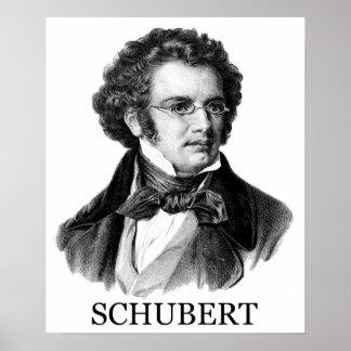 Franz Schubert negro Poster
