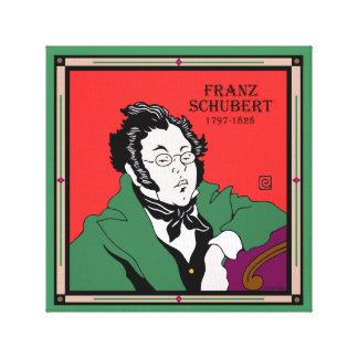"""""""Franz Schubert"""" Wrapped Canvas Print"""