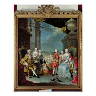 Franz Stephan I  with his wife Marie-Therese Poster
