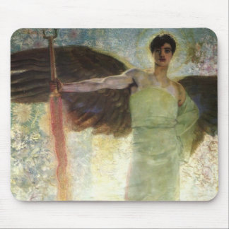 Franz Stuck- Angel with the Flaming Sword Mouse Pads