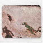 Franz von Stuck - Children sledding Mouse Pad