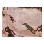 Franz von Stuck - Children sledding Postcard