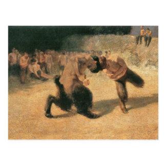 Franz von Stuck - Fighting Faune Postcard