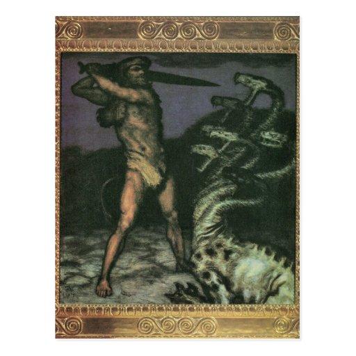 Franz von Stuck - Hercules and the Hydra Postcard