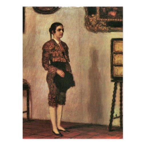 Franz von Stuck - Mary as a bullfighter Post Cards