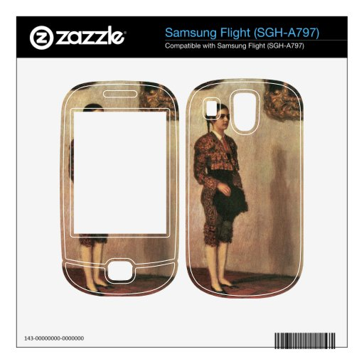 Franz von Stuck - Mary as a bullfighter Samsung Flight Decals