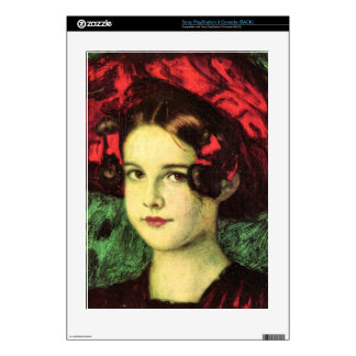 Franz von Stuck - Mary with red hat Decals For PS3