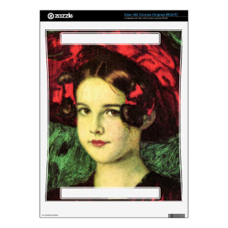 Franz von Stuck - Mary with red hat Skin For Xbox 360 Console