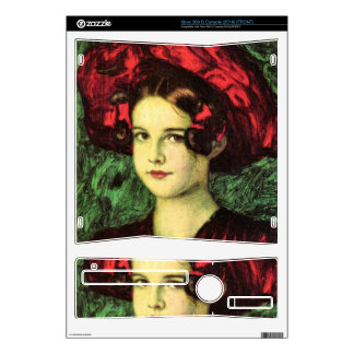 Franz von Stuck - Mary with red hat Xbox 360 S Console Decal