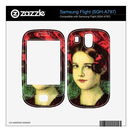 Franz von Stuck - Mary with red hat Skin For Samsung Flight