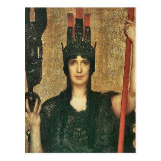 Franz von Stuck - Pallas Athene Postcard
