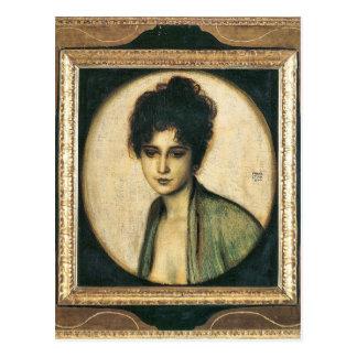Franz von Stuck - Portrait of Mrs Feez Post Card