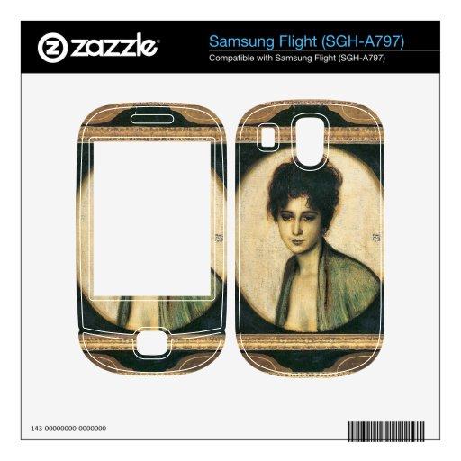 Franz von Stuck - Portrait of Mrs Feez Samsung Flight Decal