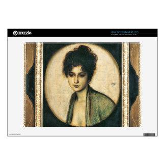 Franz von Stuck - Portrait of Mrs Feez Skins For Acer Chromebook