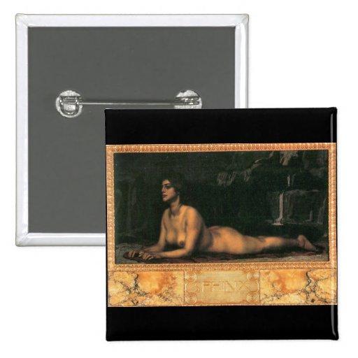 Franz von Stuck - Sphinx 2 Inch Square Button