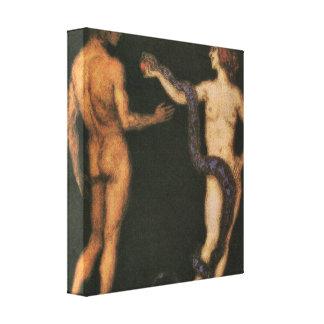 Franz von Stuck - Temptation Canvas Print