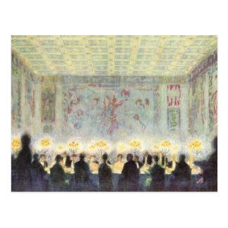 Franz von Stuck - The dinner Postcard