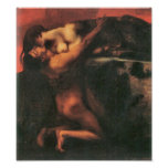Franz von Stuck - The Kiss of the Sphinx Poster