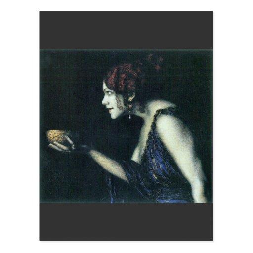 Franz von Stuck - Tilla Durieux as Circe Post Card