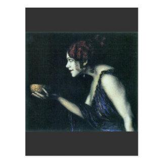 Franz von Stuck - Tilla Durieux as Circe Postcard