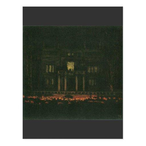 Franz von Stuck - Torches Postcards