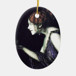 Franz von Stuck's Circe Ceramic Ornament