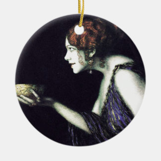 Franz von Stuck's Circe Ceramic Ornament