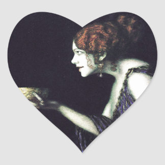 Franz von Stuck's Circe Heart Sticker