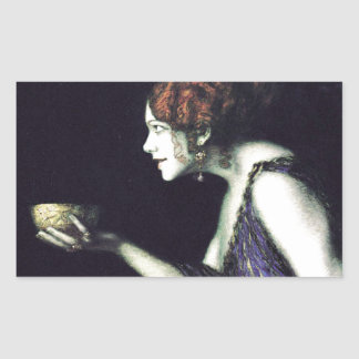 Franz von Stuck's Circe Rectangular Sticker