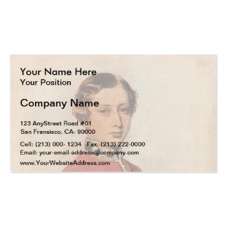 Franz Winterhalter: Albert Edward,Prince of Wales Business Card Templates