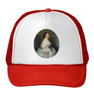 Franz Winterhalter- Anna Dollfus Mesh Hat