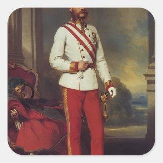 Franz Winterhalter-Austrian Emperor & Maria Teresa Square Sticker