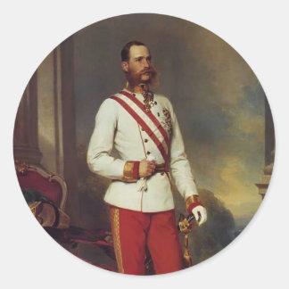 Franz Winterhalter-Austrian Emperor & Maria Teresa Round Stickers
