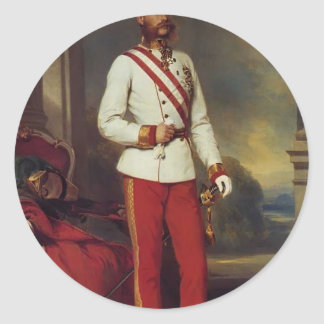 Franz Winterhalter-Austrian Emperor & Maria Teresa Stickers