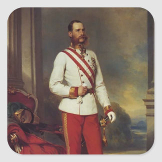 Franz Winterhalter-Austrian Emperor & Maria Teresa Square Stickers