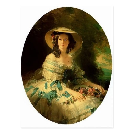 Franz Winterhalter- Eugénie de Montijo Postcard
