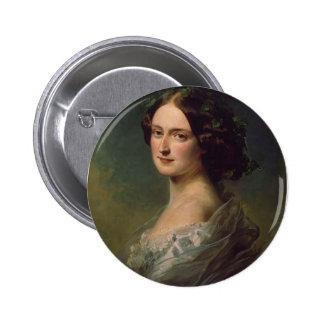 Franz Winterhalter- Lady Clementina Augusta Pinback Buttons