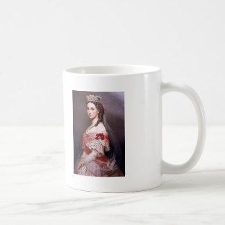 Franz Winterhalter- Portrait of Charlotte,Belgium Classic White Coffee Mug