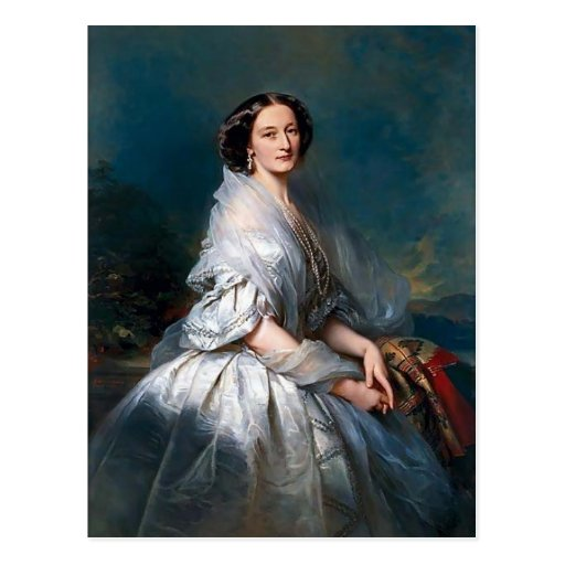 Franz Winterhalter- Portrait of Eliza Franciszka Post Card