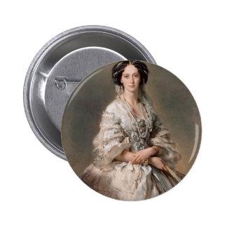 Franz Winterhalter- Portrait of Empress Maria Pinback Buttons