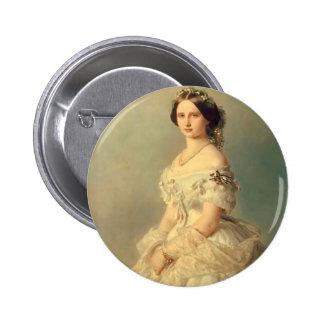 Franz Winterhalter- Portrait of Princess of Baden Button