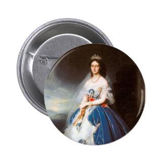 Franz Winterhalter- Portrait of the Queen Olga Pinback Buttons