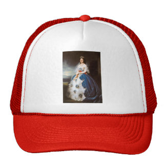 Franz Winterhalter- Portrait of the Queen Olga Mesh Hat
