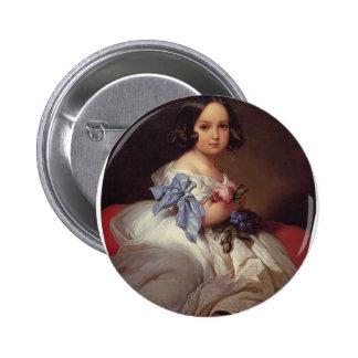 Franz Winterhalter- Princess Charlotte of Belgium Button