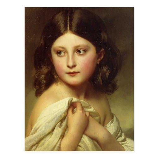 Franz Winterhalter- Young Girl, Princess Charlotte Postcards