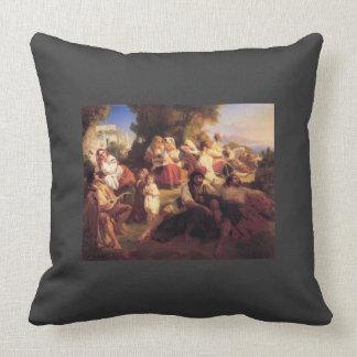 Franz Xaver Winterhalter- Il dolce Farniente Throw Pillows
