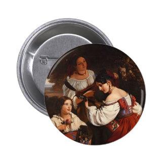 Franz Xaver Winterhalter- Roman Genre Scene Button