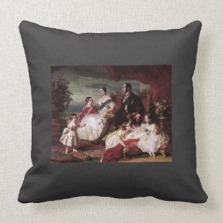Franz Xaver Winterhalter- The Royal Family in 1846 Throw Pillow