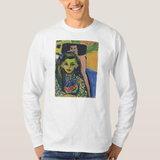 Fränzi in front of Carved Chair by Ernst Kirchner T-Shirt