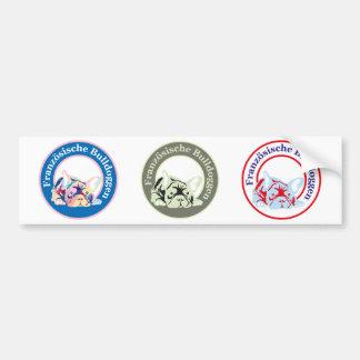 Französische Bulldoggen Bumper Sticker